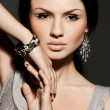 Elegant fashionable woman with jewelry — 图库照片 #7276115