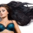 Beautiful fashionable woman with long hair - Foto Stock