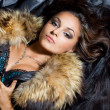 Beautiful fashionable woman with fur — Stock Photo #7446029