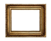 Gold antique frame isolated on white background — Stock Photo