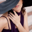 Beautiful lady in a hat — Stock Photo