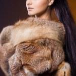 krásná žena v kožichu — Stock fotografie #7865052