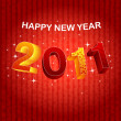 Background Happy new year 2011. Vector — Image vectorielle