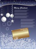Fondo de navidad invitación — Vector de stock
