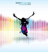 Renk dans afiş — Stok Vektör