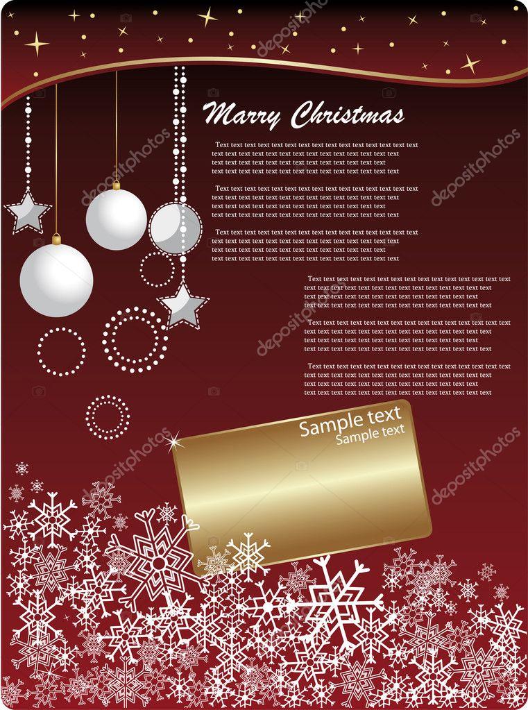 Christmas invitation background — Stock Vector © hyv123 #6747587