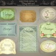 Background set: vintage labels - inspired by antique originals. vector — Vecteur #7183392