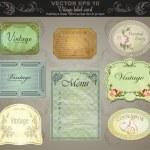 Background set: vintage labels - inspired by antique originals. vector — Stock Vector