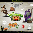 Halloween icons and elements for design — Stock Vector