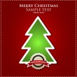 Christmas tree applique vector background. — Vektorgrafik