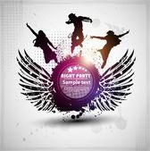 Soyutlama renk grunge poster. vektör eps 10 — Stok Vektör