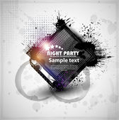 Abstraction template grunge party. Vector eps10 — Vettoriale Stock