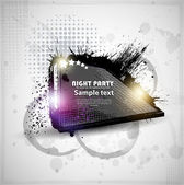 Party.vector eps10 抽象彩色 grunge 海报 — 图库矢量图片