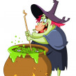 Stock Vector: Witch brew
