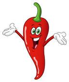 Chili pepper cartoon — Stock Vector