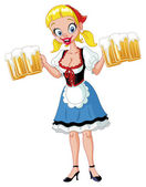 Oktoberfest girl — Stock Vector