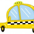 Taxi cartoon — Vettoriali Stock