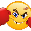 Boxer emoticon - Stock Vector