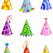 Stock Vector: Party hats