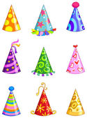 Party hats — Vettoriale Stock
