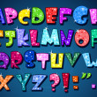 Sparkling alphabet - Imagens vectoriais em stock