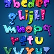 Lower case sparkling alphabet — ストックベクター #6985755