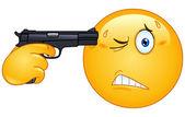 Suicide emoticon — Stock Vector