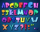 Sparkling alphabet — Stock Vector