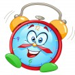Cartoon alarm clock - Stok Vektör