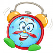 Cartoon alarm clock - Stockvectorbeeld