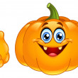 Thumb up pumpkin — Stock Vector