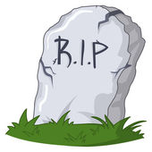 Cartoon grave — Vector de stock