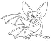 Outlined bat — Stock Vector