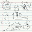 Royalty-Free Stock Vector Image: Monster doodles set 1