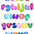 Royalty-Free Stock Vector Image: Fat bubble lower case alphabet