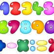 Fat bubble numbers — Stock Vector