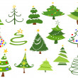Christmas trees — Vettoriali Stock