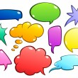 Royalty-Free Stock Vector Image: Colorful speech bubbles set