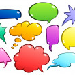 Colorful speech bubbles set — Stock Vector