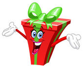 Cartoon gift — Stock Vector