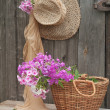 Stock Photo: Hat and basket