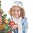 Portrait of the small beautiful girl — Stock Photo #6983367