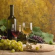 Stock Photo: White wine still life