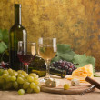 Foto Stock: White wine still life