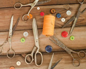 Sewing tools of the trade — Stock Photo