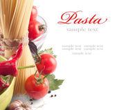 Italské těstoviny s rajčaty — Stock fotografie