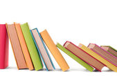 Close up of stack of colorful books — Stock Photo