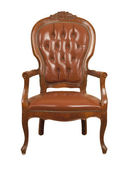 Brown Leather armchair — Stock Photo
