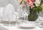 Fancy table set — Stock Photo