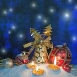 Christmas setting — Stock Photo